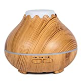 Topgio 150ml Humidificador Portatil, Difusor Aceites Esenciales Ultrasónico, Ambientador Oficina, Silencioso Aromaterapia Purifica el Aire Apagado Automático Ajuste de Tiempo Fijo Auto-Apaga con 7-Color LED para Oficina Hogar