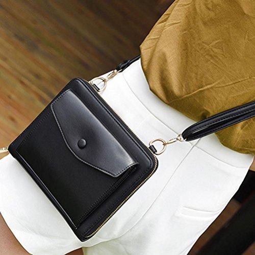 Borse Donna , feiXIANG 2017 Donne Messenger borse spalla borse borsetta piccolo corpo borse (rosa) nero