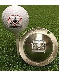 Tin Cup–WOODSTOCK pelota de golf Custom Marcador de alineación Herramienta