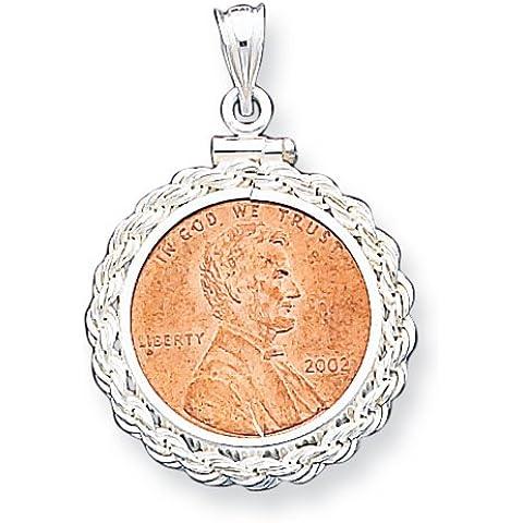 Icecarats Designer Di Gioielli In Argento Sterling 19,1 X 1,5 Millimetri 0,01 Dollari Corda Pendente Lunetta
