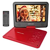 "DBPOWER 9.5"" Portable DVD Player, 5 Hour Rechargeable Battery, Swivel Screen, Supports SD"
