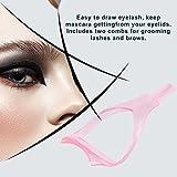 Swiftswan 3 in 1 Mascara Guard Spazzola per ciglia Bigodino Lash Comb Cosmetic Makeup Cosmetic