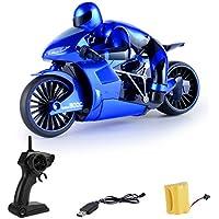 Mecotech 4CH RC Motocicleta 2.4G Velocidad Rápida 80M RC Moto Control Remoto con Luces LED