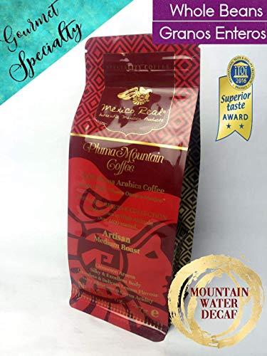 Mexico real cafe: montagna pluma oaxaca messico.chicchi caffè premium monorigine messicano. decaffeinato naturale ad acqua. decaf gourmet. arabica specialità in grani. tostatura media artigianale
