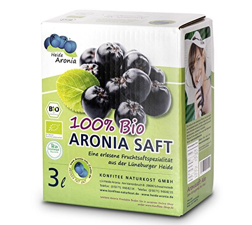Aroniasaft 3 Liter Bag in Box von HEIDE ARONIA aus der Aroniabeere │Aroniasaft aus deutscher Landwirtschaft │Aus Bio Aroniabeeren │Aroniasaft aus Bio Anbau │3 Monate haltbar nach Öffnung