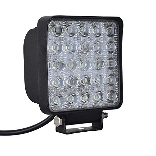 2 pièces Imperméable IP67 75W LED Spotlight Projecteur de travail Lustre de travail phares antibrouillard - phares antibrouillard pelle pour automobile Worklight - - Tracteur 7500lm
