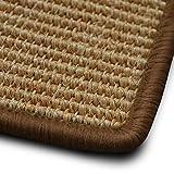 casa pura Sisal Teppich myStyle | viele Größen | mit Umkettelung in Wunschfarbe | für modernes und individuelles Wohnen (Hellbraun umkettelt, 200x240 cm)