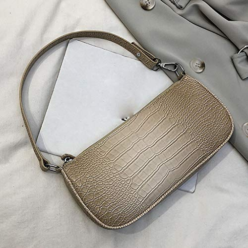 Dkings Frauen Vintage Frauen Tasche Stiletto Tasche Damen Casual One-Shoulder Bag Pendler Tasche Messenger Bag Damen Casual Schultertasche