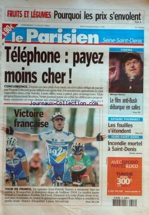 PARISIEN SEINE SAINT DENIS (LE) [No 18606] du 07/07/2004 par COLLECTIF