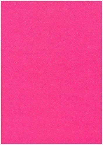 10 x A4 Blätter, Cerise Hot Pink Stardust glitzernd Craft Karte, 285 g/m²