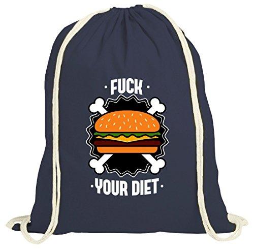 Borsa Da Palestra Natura Barbecue Con Fuck Your Diet Motiv By Shirttreet Dark Blue Nature