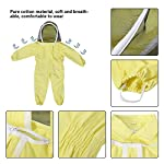 Zerodis Beekeeping Suit with Veil Protective Bee Suit for Kids,Professional Beekeeping Jumpsuit Bee Visitor Cotton Long Sleeve Children Protection Bee Keeping Supplies(M) 13