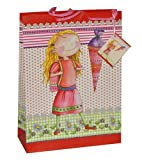 alles-meine.de GmbH Geschenktasche - Geschenkbeutel -  Mädchen - Leni  groß - Passend für Geschenke - Schulanfang Schuleinführung - Geschenktüte Tüte Beutel Tasche / Verpackung