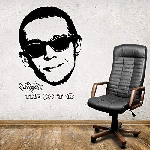 VALENTINO ROSSI 46 ARZT MOTO GP GARAGE vinyl wandkunstaufkleber l wandkunst Wand Aufkleber für Schlafzimmer Wohnzimmer Aufkleber D 524