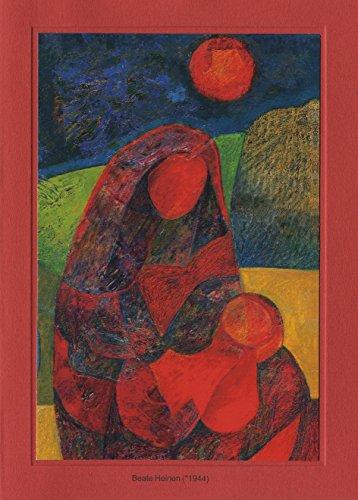 Artoz Kunstkarte Heinen: Und das Wort ist Fleisch, Format B6, ein Set besteht aus Einlegeblatt, Kuvert und Karte - verpackt zu 3 Sets - Preis für 3 Sets