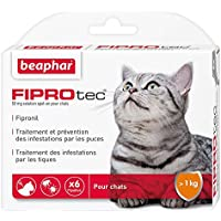 Beaphar FIPROtec, Pipettes Anti-Puces et Anti-tiques au Fipronil - Chat - 6 Pipettes