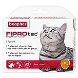 Beaphar - FIPROtec, Pipettes Anti-puces et Anti-tiques au Fipronil - Chat - 6 Pipettes