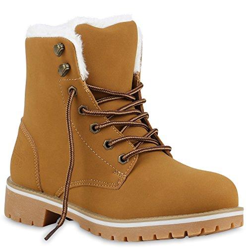 UNISEX Damen Herren Stiefeletten Worker Boots Outdoorschuhe Schnürstiefel Weiss Hellbraun