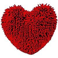 JINSH Home Almohada de Felpa en Forma de corazón sofá Creativo Almohada del Coche cojín de