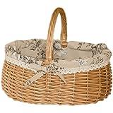 Sharplace Bügelkorb Picknickkorb aus Weide