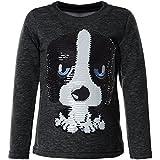 BEZLIT Mädchen Kinder Pullover Pulli Wende Pailletten Sweatshirt 21549, Farbe:Anthrazit, Größe:110