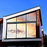 Sichtschutzfolie Hitzeschutz Sonnenschutzfolie Selbstklebende Spiegelfolie Fensterfolie Tönungsfolie Sichtschutz Wärmeisolierung UV-Schutz Silber 45 x 200 - 6