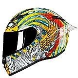 KeRuiLou Casco Moto Integrale Casco Moto Integrale off Road Motocross Moto Kask Helm black2 M
