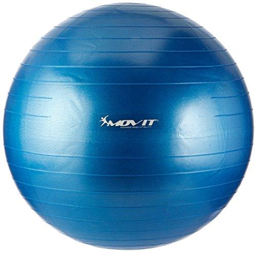 MOVIT Gymnastikball »DYNAMIC BALL« inkl. Handpumpe, 65 cm, Blau, Maximalbelastbarkeit bis 500kg, berstsicher, Fitness-ball, Sitzball, Yogaball, Pilates-ball, Balance