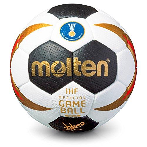 Molten Alemania WM 2017Mujer de balonmano H2X 3200de w7g réplicas de tamaño 2blanco/negro/oro/rojo, tamaño 2