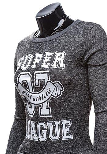BOLF - Sweat-shirt – Jumper - HOT RED 7256 - Femme Noir