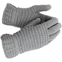 WITERY Winter Touch Screen Knitted Gloves - Thick Warm Wool Windproof Gloves Cold Proof Thermal Mittens - Ideal for Dress, Driving, Cycling, Motorcycle, Camping etc