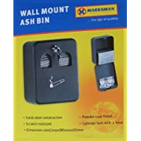 Fixation murale en métal avec revêtement verrouillable Cendrier Ash Bin (Marksman)