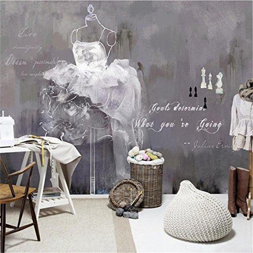 Personalisierte Hochzeit Kleidung (Tapeten Wallpaper Persönlichkeit Mode Kleidung Hochzeit 3D Custom Murals für personalisierte Kleidung Hochzeit Shop Hintergrundwand)