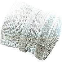 PureMounts PM-ZCCS-SOCKS-85 Conduit de câbles en polyester universel, auto-serrant avec velcro, Ø 85mm, 1.80m, blanc