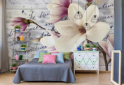 Wallsticker Warehouse Magnolia Blumen Vintage