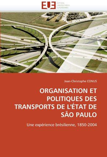 Organisation et politiques des transports de l''état de são paulo