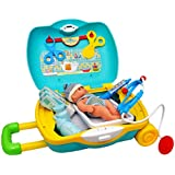 Toyshine Briefcase Cum Trolley Baby Care, Pretend Play Set Toy