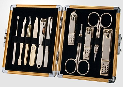 Monde N ° 1, trois Sept 777 Voyage Manucure Pédicure kit de toilettage Lot (total 12 PC, modèle : Ts-8000sg), Soin des Ongles personnelles, inoxydable Steel- fabriqué en Corée, depuis 1975