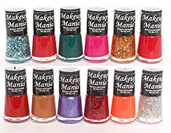 Makeup Mania Exclusive Nail Polish Set of 12 Pcs (Multicolor Set  76)