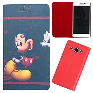 DooDa - For Micromax Canvas Power A96 PU Leather Designer Fashionable Fancy Flip Case Cover Pouch With Smooth Inner Velvet