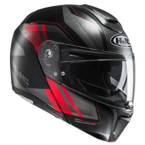 HJC Moto Casco Rpha 90tanisk mc1sf, Negro/Rojo, tamaño XL