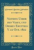 Notizen Ueber den Vesuv, und Dessen Eruption V. 22 Oct. 1822 (Classic Reprint) - Giovanni Battista Salvadori