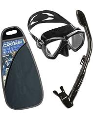 Cressi Premium Masque et Tuba - Kits de Randonnée Aquatique / Plongée pour Adulte