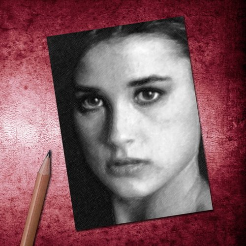 Seasons DEMI MOORE - ACEO Sketch Card (Signed by the Artist) ()