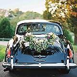 Konsait Just married Pegatinas de vinilo para coche boda decoración (paquete de 2)