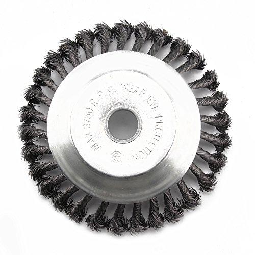 Allright Unkrautbürste Wildkrautbürste Fugenbürste für Motorsense Freischneider Kegelbürste Drahtbürste weich 25,4 x 200mm