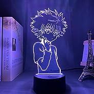Killua Zoldyck, 3D Night Light, 16 Colors 7 Colors/remote Touch Eye Protection Night Light, USB Sleep Decorati