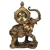 Kaminuhr Indischer Elefant Barockstill gold Höhe 40 cm
