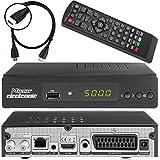 Micro Electronics m380 Plus Full HDTV digitaler Satelliten-Receiver inkl. HDMI Kabel (HDTV, DVB-S2, HDMI, SCART, LAN, USB 2.0, Full HD 1080p) [vorprogrammiert] - schwarz