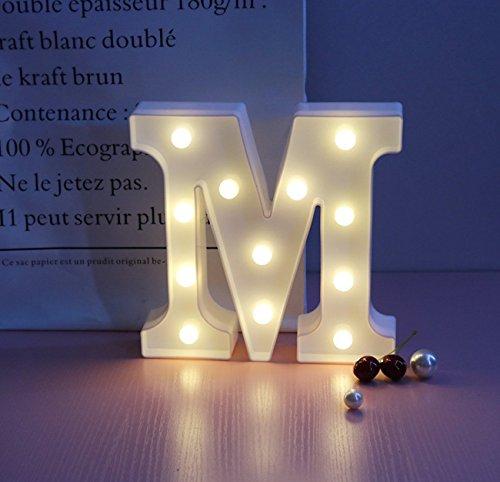 phabet Kunststoff Lampe Warm White Buchstaben Festzelt Zeichen Form Weihnachten Hochzeit Vorschlagen Weihnachten Zimmer Party Bar Cafe Schlafzimmer Dekoration von Pauline (M) (Hochzeit Zeichen)
